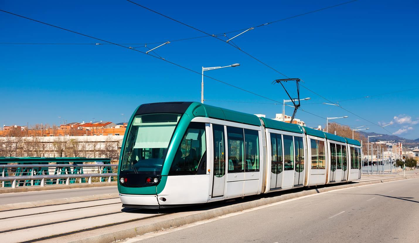 Tram in Barcelona - Top