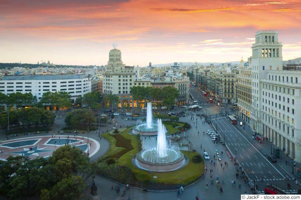 Plaça Catalunya Brunnen
