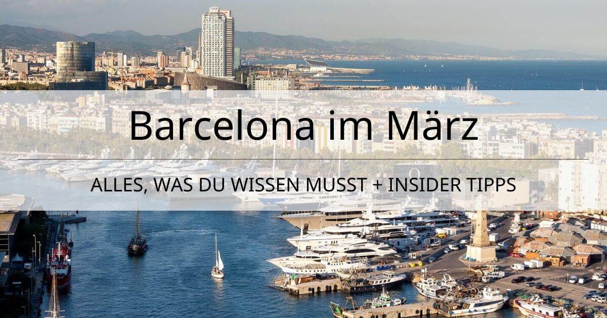 Barcelona Wetter März