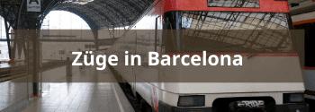 Züge in Barcelona - Hub