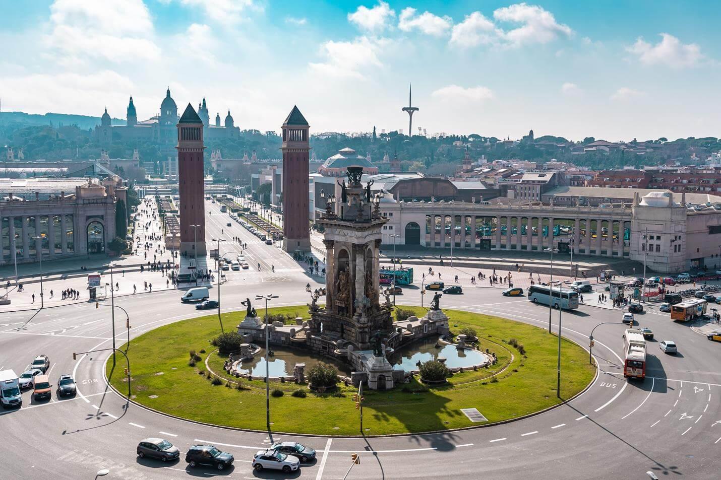 Placa Espanya Barcelona - Top