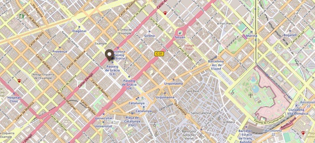 Karte Casa Batllo Barcelona