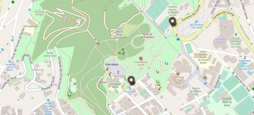 Park Güell Plan