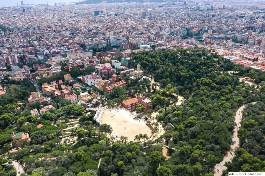 Park Güell von oben