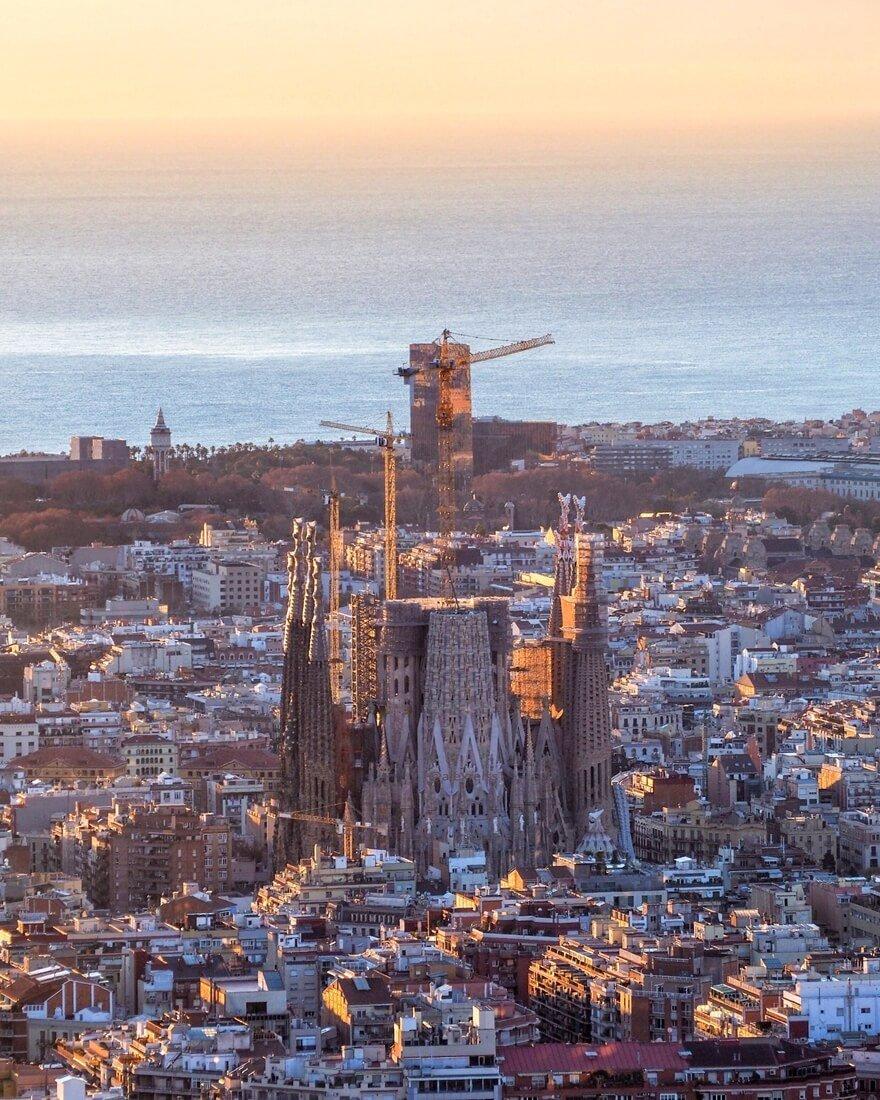 Sagrada Familia von oben