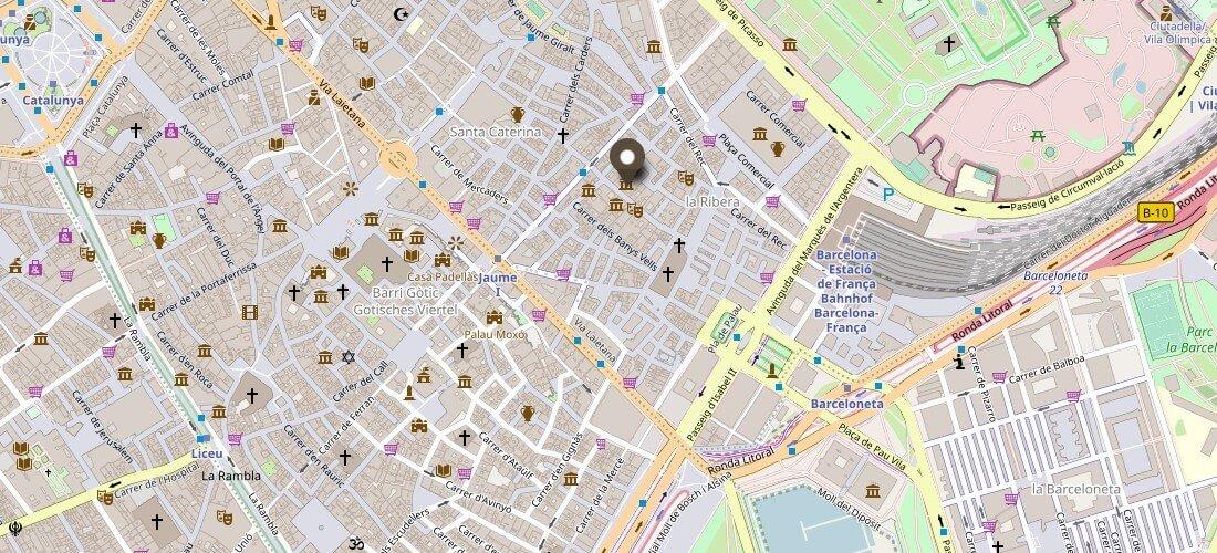Karte Picasso Museum Barcelona