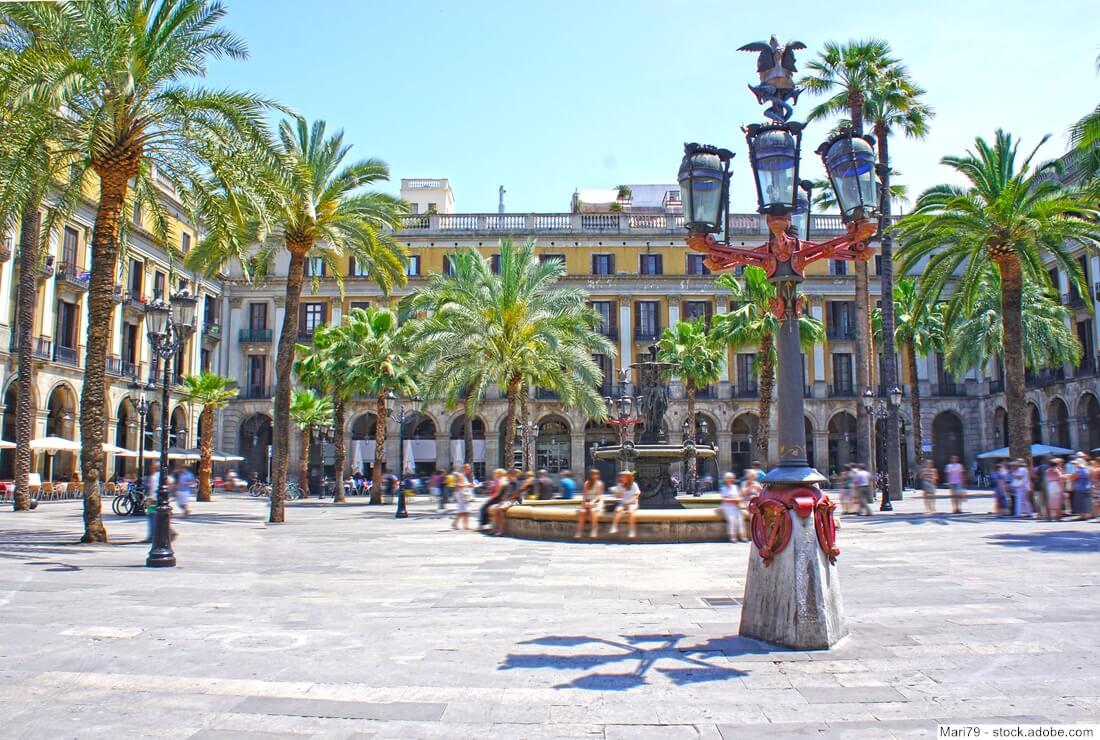 Farolas de la Plaza Real