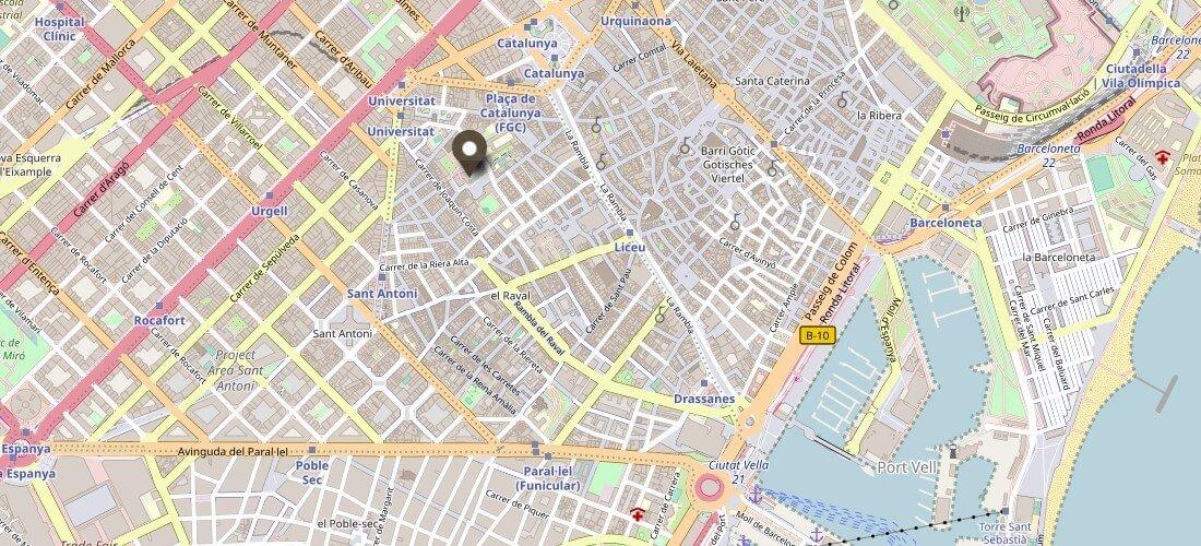 MACBA Barcelona Karte